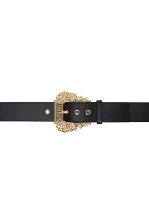 VERSACE Black & Gold Couture1 Leather Belt