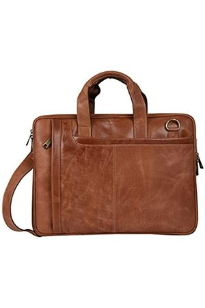 Liberty Leather Herren Echtleder Business & Travel Laptop Tasche passend für 15 Zoll Laptop | Slim Laptop Tragetasche Aktentasche mit verstellbarem Schultergurt