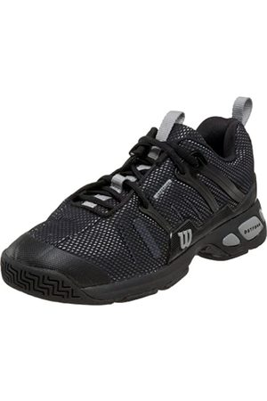 Wilson Men's Tour Spin Tennis Shoe,Black/Silver