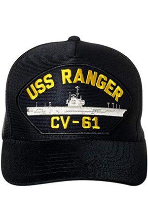 Artisan Owl USS Ranger CV-61 Supercarrier Emblem Patch Hat Navy Blue Baseball Cap