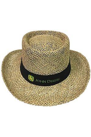 John Deere Herren Hüte - Brand Black Straw Hat With Neck Strap