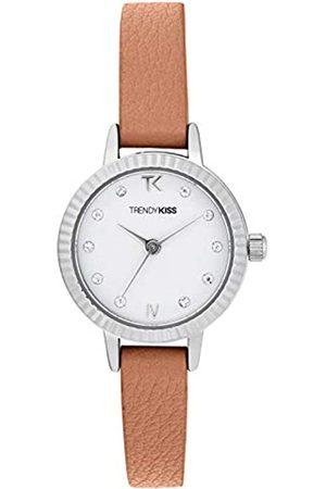 Trendy Kiss Damen Analog Quarz Uhr mit Leder Armband TC10135-01