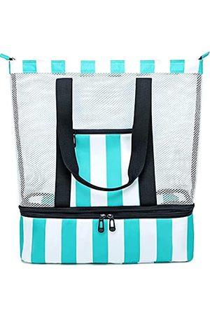 BLUBOON Strandtasche mit Kühler, isoliert, abnehmbar, für Damen, (Türkis)
