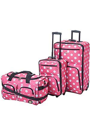 Rockland Vara Softside Gepäck-Set 3-teilig (Pink) - F165-PINKDOT