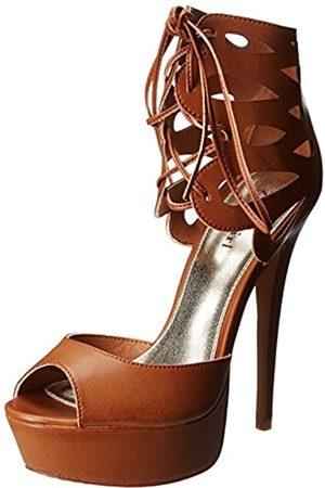 ZIGIny Kalani Plateau-Sandale für Damen, Braun (Hellbrauner Kunststoff)