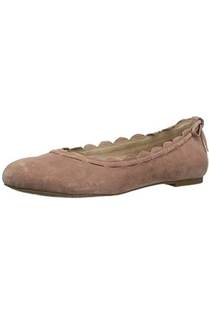 Jack Rogers Women's Lucie Ballet Flat, Champagne Suede