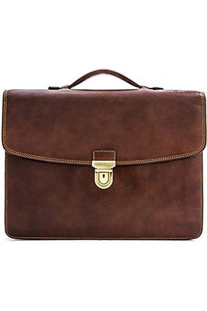 Tony Perotti Italian Leather Single Compartment Folder Document Briefcase Portfolio