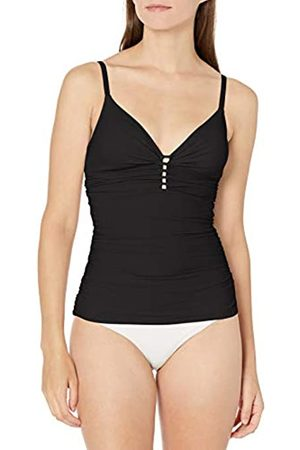 gottex Women's Keyhole V-Neck Tankini Top Swimsuit, Tutti Frutti Black