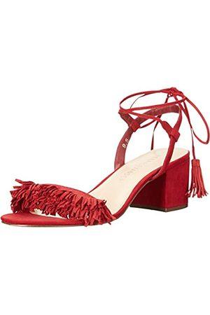 ATHENA Damen Saige Kleid Sandalen, (Rotes Wildleder)
