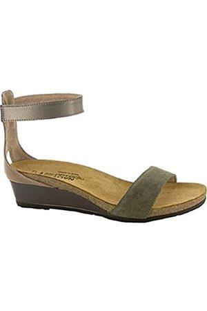 Naot Women's Pixie Oily Olive Suede/Arizona Tan Leather/Pewter Leather 38 M EU