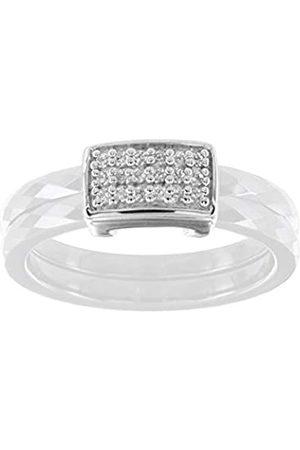 Ceranity Damen Ring, Sterling-Silber 925, Zirkonoxid, 54 (17.2)