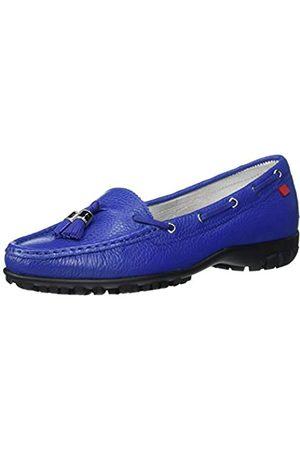 Marc Joseph New York Damen Leder Made in Brazil Spring Street Golf Schuh, (Royal Blue Trommelkörnchen)