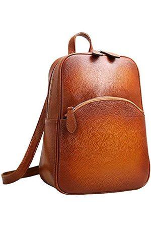 HESHE Damen lässige Leder Rucksack Daypack für Damen (l) 10.23 * (h) 12.99 * (w) 4