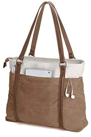 BAG WIZARD Damen Laptop-Tragetasche für die Arbeit, leicht, aus Segeltuch, 39,6 cm (15,6 Zoll)