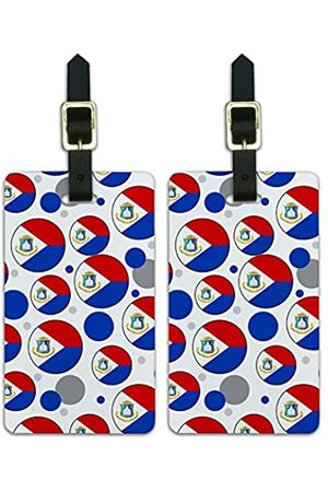Graphics and More Graphics & More O-s-Sint Maarten Nationalflagge - Luggage.Tags.09686