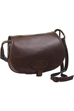 Mika 28059002 - Damentasche Bonny aus Echt Leder/Sattelleder, Damen Handtasche mit Hauptfach und Vortasche, Ledertasche für Frauen, Umhängetasche in