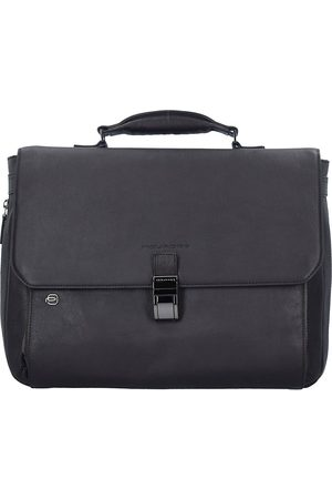 Piquadro Black Square Aktentasche Leder 40 Cm Laptopfach in mittelbraun, Businesstaschen für Herren