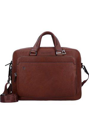 Piquadro Herren Laptop- & Aktentaschen - Black Square Aktentasche Leder 40 Cm Laptopfach in mittelbraun, Businesstaschen für Herren