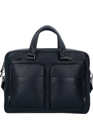 Piquadro Black Square Aktentasche Leder 39 Cm Laptopfach in , Businesstaschen für Herren