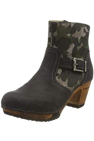 Woody Damen Tina Stiefelette, Grigio-Camouflage