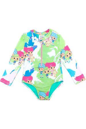 AMIR SLAMA Mädchen Badeanzüge - Badeanzug mit Print