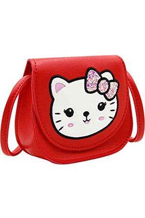ANKOMINA Kinder Kleinkinder Katze Geldbörse für kleine Mädchen Süße Katze Crossbody Schultertasche Geldbörse Münzbörse mit Pailletten Schleife