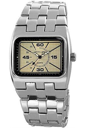 Excellanc Herren Analog Quarz Uhr mit Verschiedene Materialien Armband 280122500015