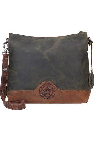 Billy The Kid Hunter Umhängetasche Leder 32 Cm in mittelgrün, Umhängetaschen für Damen