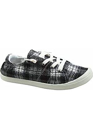 Generic FZ-Comfort-01 Damen Süße Komfort Slip On Flache Ferse Runde Zehen Sneaker Schuhe, ( /kariert)