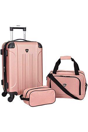 Travelers Club 3-4-5-teiliges Set Sky+ Spinner Gepäckset (Pink) - TCL-66993-670