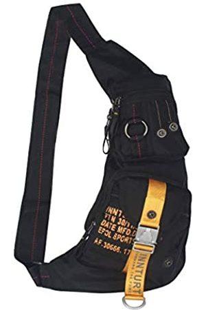 Innturt Nylon Sling Chest Bag Daypack Bicycle Travel Gym Backpack (Black)