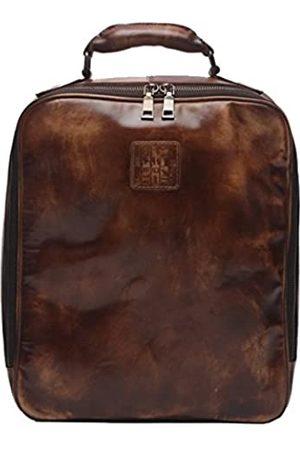 ECOFISH Vintage Leder Casual Fashion Rucksack Schule College Bookbag Laptop Computer Rucksack robust für Businessmen Preppy Style Schultasche Reisetasche Schultertasche