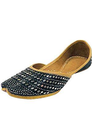 Step N Style Punjabi Jutti für Damen, Hochzeit, Sandalen, Brautschmuck, Partyschuhe, indische Schuhe, flach, Mojari