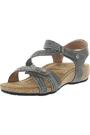 Taos Footwear Damen Trulie Leder Sandalen, Grau (dunkelgrau)