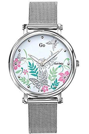 GO Girl Only Damen Analog Quarz Uhr mit Edelstahl Armband 695184