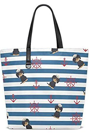 VVIEER Canvas Tote Bag für Frauen Geldbörse Schulter Handtaschen Große Einkaufstaschen Dackel Seemann