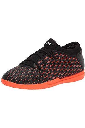 PUMA Future 6.4 IT Jr Soccer Shoe, Black- White-Shocking