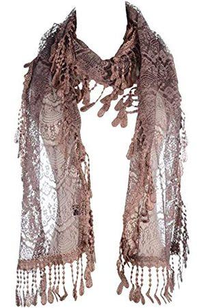 Be Your Own Style BYOS Damen Schal, elegant, leicht, gehäkelt, Spitze, Blattmuster