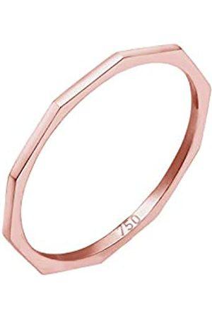 Elli PREMIUM Ring Damen Geo Eckig Trend Basic Minimal Look 750er Roségold