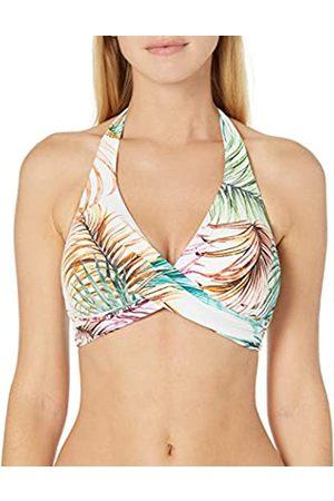 gottex Damen Twist Front Halter V-Neck Bikini Top Swimsuit Bikinioberteil