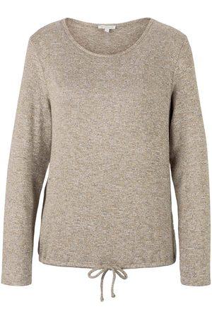 Tom Tailor Damen Langarmshirt mit Tunnelzug, , Gr.XL