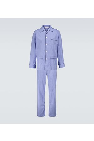 DEREK ROSE Karierter Pyjama Felsted 3 aus Baumwolle
