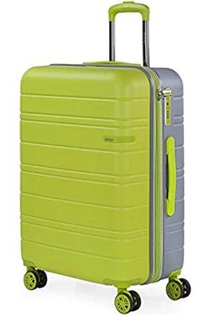 Jaslen Mittlerer Reisekoffer mit 4 Rädern, ABS ausziehbarer Hartschalenkoffer. Hartes