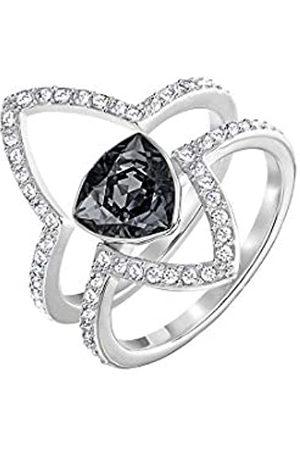 Swarovski Damen-Stapelring Fantastic Set Crystal Silver Night weiß Kristall Gr. 48 (15.3) - 5257513