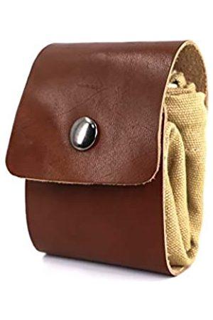 VODESON Gewachste Leder-Tasche aus Segeltuch, Outdoor-Futtersuche-Tasche mit Kordelzug (faltbar), Gürteltasche zum Sammeln von Steinen, Muscheln, Pilzen, Obst, Erntetasche