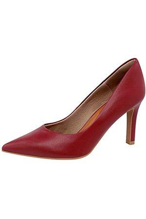 USAFLEX Damen Kleid Pumps, Stilvoll und Bequem 3.5 Zoll Heels für Frauen, (dunkelrot)
