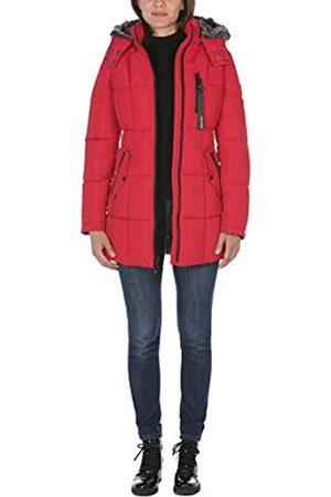 Nautica Damen Puffer with Faux Fur Lined Hood Daunenalternative, Mantel