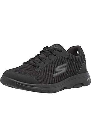 Skechers Herren GO Walk 5-Demitasse Sneaker, Schwarzer Textil-Synthetikrand