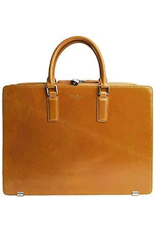 Dom Teporna Italy Aktentasche aus genarbtem italienischem Leder für Herren, Business-Tasche, entworfen in Japan