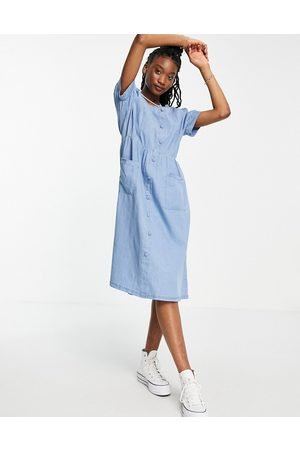 QED London – Midikleid aus Chambray in